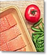 Raw Salmon Metal Print by Tom Gowanlock