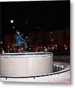 Ray Charles Statue In A Odd Weather Event Metal Print