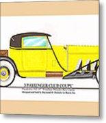 1922 Mercedes Benz By Raymond Dietrich Z Metal Print
