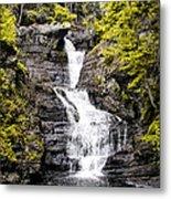 Raymondskill Falls In Milford Pa Metal Print
