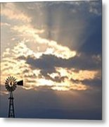 Rays Behind The Mill Metal Print