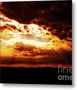 God's Hope In Skyscape Metal Print