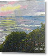 Rays Of Light At Burliegh Heads Metal Print