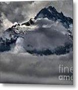 Rays Of Light On The Glaciers Metal Print