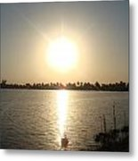 Rays Of Sunset Metal Print