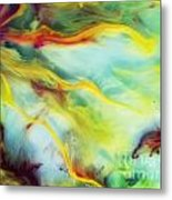 Rays Of The Sun Watercolor Abstraction Painting Metal Print