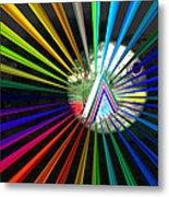 Rays To Triangle Metal Print