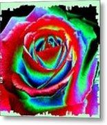 Razzle Dazzle Rose Metal Print