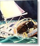 Reach For Safe Harbor Metal Print by Don F  Bradford