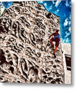 Reaching A Climbmax Metal Print