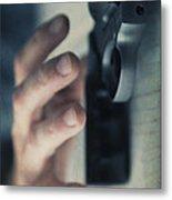 Reaching For A Gun Metal Print by Edward Fielding