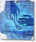 Reaching In The Light  Metal Print
