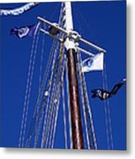 Reaching Out To The Deep Blue Sky Metal Print