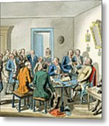 Reading A Will Metal Print