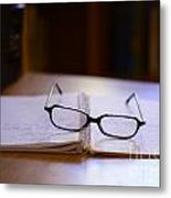 Reading Glasses Metal Print by Bobby Mandal