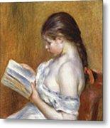 Reading Metal Print by Pierre Auguste Renoir