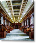 Reading Room In The Library Of Congress Metal Print