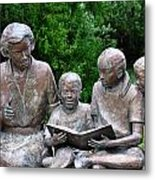 Reading The Story Metal Print
