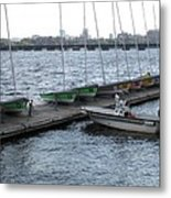 Ready And Waiting On The Charles Metal Print