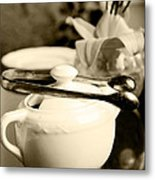 Ready For Afternoon Tea And Biscuits Metal Print