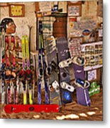 Ready For Sand Skiing Metal Print
