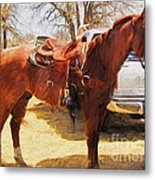 Ready For Some Ropin Metal Print