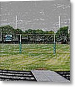 Ready For The Football Season Panorama Digital Art Metal Print
