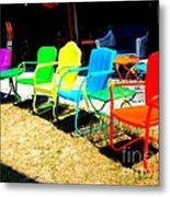 Ready - Set - Sit Metal Print