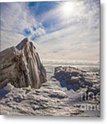 Ready To Let Loose Ice Formation Metal Print