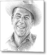 Reagan Drawing Mike Theuer Metal Print