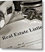 Real Estate Listing And Lock Box Metal Print