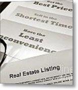 Real Estate Listing Presentation  Metal Print