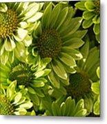 Real Green Flowers Metal Print