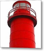 Really Red Lighthouse Metal Print