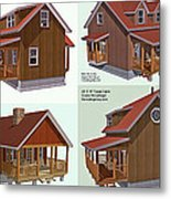 Realm Gallery Cabin Designs Metal Print