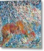 Rearing Stallion - Oil Portrait Metal Print