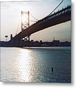 Recesky - Benjamin Franklin Bridge 1 Metal Print
