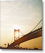 Recesky - Benjamin Franklin Bridge 2 Metal Print