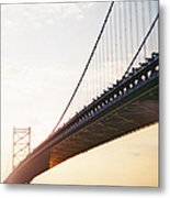 Recesky - Benjamin Franklin Bridge 3 Metal Print