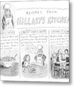 'recipes From Hillary's Kitchen' Metal Print