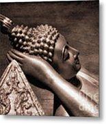 Reclining Buddha Metal Print by Adrian Evans