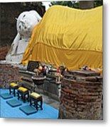Reclining Buddha Monument Metal Print