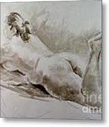 Reclining Rose Metal Print