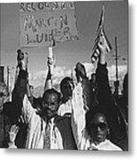 Recognize Martin Luther King Day Rally Tucson Arizona 1991 Black And White Metal Print