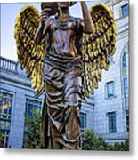 Recording Angel Metal Print