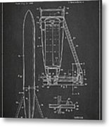 Recoverable Rocket Launching Unit Metal Print