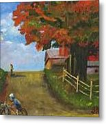 Recreation On A Fall Day Metal Print