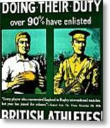 Recruiting Poster - Britain - Rugby Metal Print