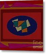 Rectangles Ovals Metal Print by Meenal C