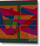Rectangles Triangles Metal Print by Meenal C